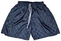 Augusta Navy Blue Checker Nylon Soccer Shorts - Men's Large