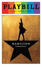 Hamilton Broadway June 2016 Gay Pride Playbill Lin Manuel Miranda ORIGINAL CAST