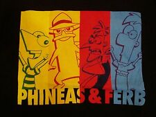 Phineas & Ferb Cartoon Network TV Show Funny Black T Shirt S