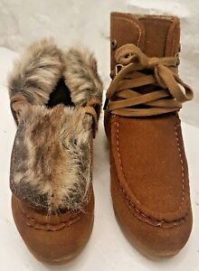 Timeless brown Fur Lined Suede Ankle Boots, Brand New with box. Size 7 UK, 40 EU