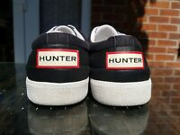 Hunter Mens Womens Ladies Sneakers Trainers Black canvas Size 7 pumps