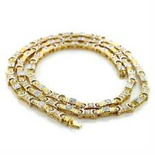 TK736pb DESIGNER MENS OR  WOMENS SIMULATED DIAMOND 36INCH CHAIN NECKLACE 18KT