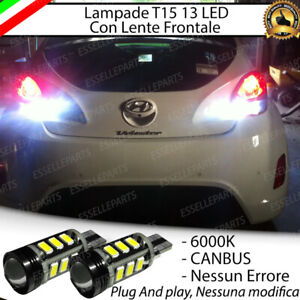 LAMPADE RETROMARCIA 13 LED T15 W16W CANBUS PER HYUNDAI VELOSTER 6000K NO AVARIA