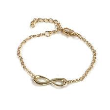 Gold Colour Bracelet Infinity 8 Good Luck Charm Ladies Woman Bracelet Adjustable