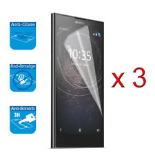 For Sony Xperia L2 Double Screen Protector Cover Guard Lcd Film Foil & Cloth x 3