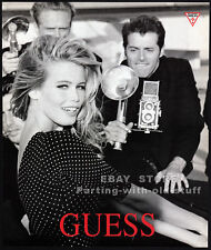 GUESS__CLAUDIA SCHIFFER__Original 1991 Print  AD fashion promo__paparazzi