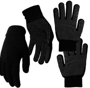 Mens/Ladies Black Magic Stretch Gripper Gloves Driving Fishing Cycling One Size