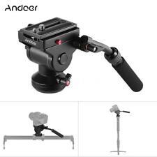 Andoer Video Camera Tripod Monopod Hydraulic Panoramic Fluid Drag Pan Head Kit