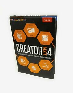 Corel Roxio Creator NXT 4 Complete CD DVD Burning Creativity Suite NEW SEALED