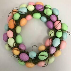 New Easter Wreath Occasion Spring Green Multicoloured Egg Fun Seasonal 502022