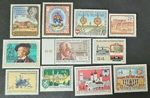STAMPS AUSTRIA 1986 VARIOUS MINT HINGED - #5846