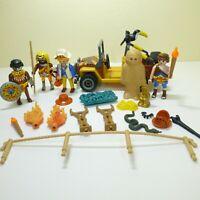 Playmobil Jungle Expedition Safari Explorer Figures Natives Jeep Accessories Lot