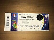 Sammler Used Ticket #39 Kroatien Portugal Croatia UEFA EURO With Names