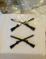 Lot of 2 B.O.S. Infantry Officer subdued metal pins us army reserve arng militia