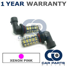 2X XENON PINK H10 60 SMD LED FOG LIGHT BULBS FOR JEEP COMMANDER COMPASS WRANGLER