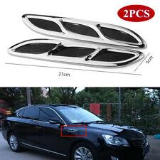 Universal Car Shark Style Hood Side Vent Louver Air Flow Cooling Panel 27CMX5CM