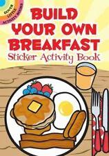 BUILD YOUR OWN BREAKFAST STICKER ACTIVITY BOOK, scene, 32 reusable stickers, FUN