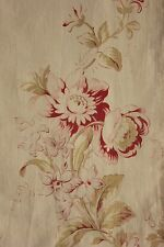 Fabric antique French roses floral pale ground cotton