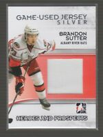 (67594) 2009-10 ITG HEROES and PROSPECTS GAME-USED JERSEY SILVER BRANDON SUTTER