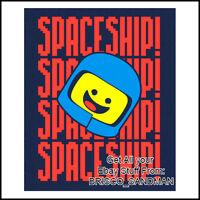 "Fridge Fun Refrigerator Magnet LEGO MOVIE ""BENNY: SPACESHIP SPACESHIP!!"" Awesome"