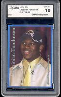 2001 Ladainian Tomlinson Sports Card Investor SCI Platinum rookie gem mint 10