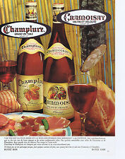 PUBLICITE ADVERTISING 074 1969 CHAMPLURE CRAMOISY   vins