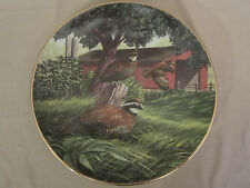 Bobwhite In May collector plate Ken Michaelsen Wildlife Sporting Year Quail