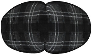 Grey Tartan - Medical Adult Eye Patch for Glasses LRG Soft Washable sold to NHS