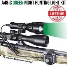 Wicked Lights A48iC GREEN Night Hunting Light Kit for coyote, hog, bobcat, W2005