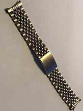 Vintage Speidel Mens Watch Band Beads of Rice 10kt Rolled Gold Fill.
