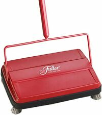 "Fuller Brush Red Electrostatic Carpet & Floor Sweeper - 9"" Cleaning Path M624"