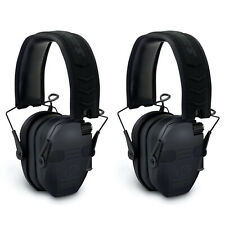 Walker's Razor Slim Folding Protection Electronic Shooting Muffs, Black (2 Pack)