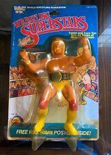 WWF LJN Wrestling Superstars Hulk Hogan Action Figure w/Poster Belt Sealed Card