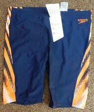 Men's SPEEDO Jammers Endurance Size 38 Blue W/Orange
