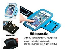Running Jogging Workout Sport Gym Armband Case Cover Pouch For iPhone 5 5S Blue