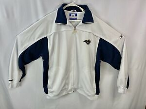 Los Angeles Rams Mens XXL NFL Football Reebok On Field Full Zip Jacket Fleece