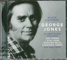 GEORGE JONES WHITE LIGHTNIN' CD - SHE THINKS, I STILL CARE, WEDDING BELLS & MORE