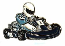 New Motor Racing Go Kart Enamel Metal Karting Motorsport Pin Badge