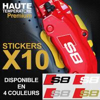 Stickers autocollants adhésif étrier de frein AUDI S8 Quattro S-line A8 RS8 TFSI