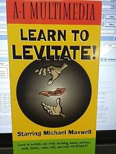A-1 Multimedia LEARN TO LEVITATE MICHAEL MAXWELL VHS Video Tape