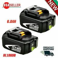 2X 18V 6.0Ah REPLACE BL1860B BATTERY LXT LITHIUM-ION FOR Makita BL1830B CORDLESS