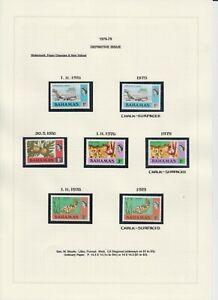 Bahamas 1976-79 Definitives (Including Chalk-Surfaced) 21v MNH