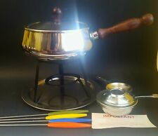 Vintage Unused Stainless Steel Fondue Set Complete and Boxed