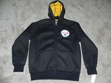 PITTSBURGH STEELERS GRAPHIC HOODED JACKET MENS LARGE NFL TEAM APPAREL BRAND NEW