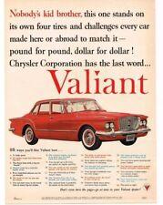 1959 Plymouth VALIANT Red 4-door Sedan VTG PRINT AD