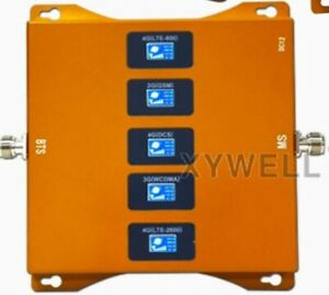 5Band LTE cell signal booster 800/900/1800/2100/2600MHz Bands 20/8/3/1/7 mobile