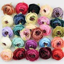 8/120Pcs Silk Artificial Rose Flower Heads Fake Camellia DIY Wedding Home Decor