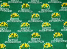 Seattle SuperSonics Sonics NBA Cotton Fabric Half Yard 18 x 44 Brand New!