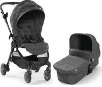 Baby Jogger City Tour Lux Stroller w/ Bassinet Kit Pram Travel System Granite