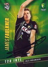 ✺Signed✺ 2015 2016 AUSTRALIAN Cricket Card JAMES FAULKNER Big Bash League